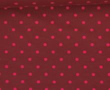 Jersey - Punkte - Mittel - Weinrot/Pink