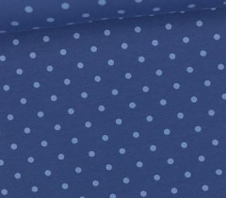 Jersey - Punkte - Mittel - Taubenblau/Hellblau