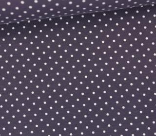 Jersey - Punkte - Klein - Grau/Weiß