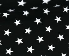 Sommersweat - Sterne - Schwarz / Weiß