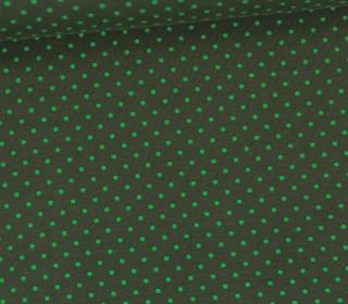 Jersey - Punkte - Klein - Tannengrün/Grasgrün