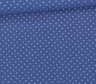 Jersey - Punkte - Klein - Taubenblau/Hellblau