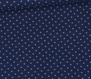 Jersey - Punkte - Klein - Dunkelblau/Hellblau
