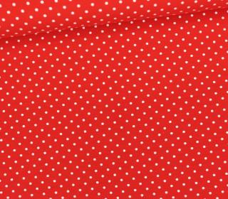Jersey - Punkte - Klein - Rot/Weiß