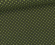 Jersey - Punkte - Klein - Olivgrün/Gelbgrün