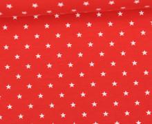 Jersey - Sterne - Klein - Rot/Weiß