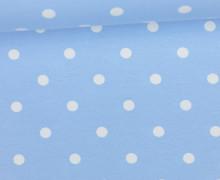 Jersey - Punkte - Groß - Hellblau/Weiß