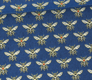 Jacquard - Honey - Bienen - Meerblau