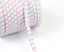 1m Kunstlederkordel - Motivkordel - Flamingo-Pärchen - Uni - 8mm - Mint