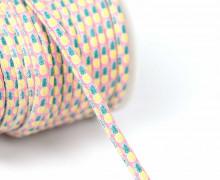 1m Kunstlederkordel - Motivkordel - Ananas - Mehrfarbig - 8mm - Rosa