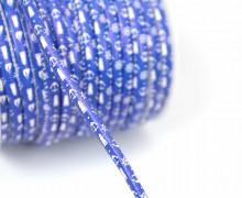 1m Kunstlederkordel - Motivkordel - Maritim - Uni - 8mm - Blau