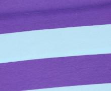 Jersey - Breite Streifen - Hellblau/Lila