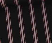 Viskose Metallic - Streifen - Schwarz