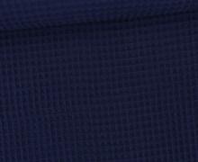 Waffel Piqué – Baumwolle – Dunkelblau