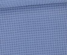 Waffel Piqué - Baumwolle - Taubenblau