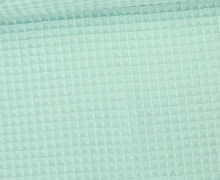 Waffel Piqué - Baumwolle - Mint