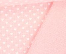 Waffel Piqué - Baumwolle - Frottee - Herzen - Rosa
