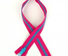 1 Reißverschluss - 60cm - Teilbar - Bicolor - Hochwertig - Prym - Pink/Hellblau