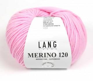 Strickgarn - LANGYARNS MERINO - 120m - 100% Schurwolle - No Mulesing - Babyrosa (34.0009)