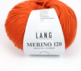 Strickgarn - LANGYARNS MERINO - 120m - 100% Schurwolle - No Mulesing - Orange Dunkel (34.0159)