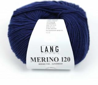 Strickgarn - LANGYARNS MERINO - 120m - 100% Schurwolle - No Mulesing - Nachtblau (34.0035)