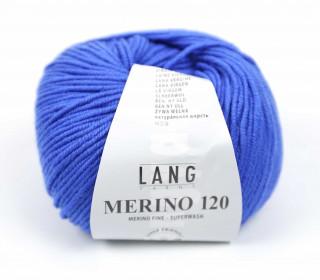 Strickgarn - LANGYARNS MERINO - 120m - 100% Schurwolle - No Mulesing - Blau (34.0031)