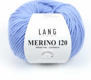 Strickgarn - LANGYARNS MERINO - 120m - 100% Schurwolle - No Mulesing - Himmelblau (34.0021)