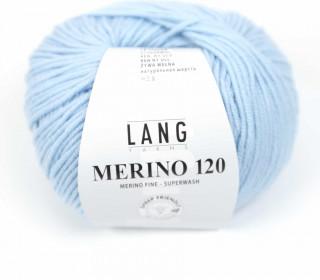 Strickgarn - LANGYARNS MERINO - 120m - 100% Schurwolle - No Mulesing - Eisblau (34.0173)