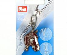 1 Zipper Anhänger - Metall - Hochwertig - Prym - Pferd