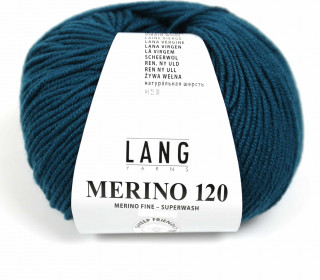 Strickgarn - LANGYARNS MERINO - 120m - 100% Schurwolle - No Mulesing - Petrol Dunkel (34.0288)