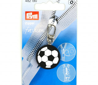 1 Zipper Anhänger - Kunststoff - Hochwertig - Prym - Fußball