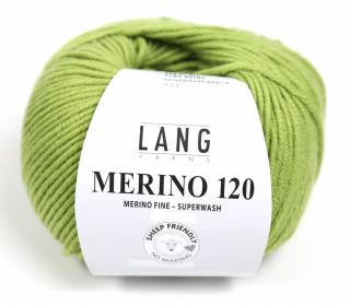 Strickgarn - LANGYARNS MERINO - 120m - 100% Schurwolle - No Mulesing - Moosgrün (34.0198)