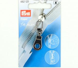 1 Zipper Anhänger - Metall - Hochwertig - Prym - Öse - Silber