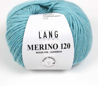 Strickgarn - LANGYARNS MERINO - 120m - 100% Schurwolle - No Mulesing - Lichtgrün (34.0372)