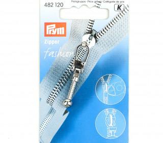 1 Zipper Anhänger - Metall - Hochwertig - Prym - Keule - Silber