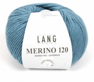 Strickgarn - LANGYARNS MERINO - 120m - 100% Schurwolle - No Mulesing - Lichtgrün Dunkel (34.0274)