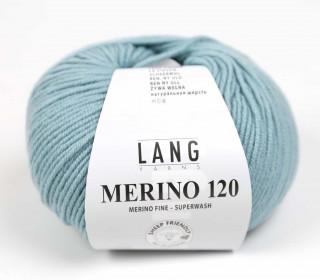 Strickgarn - LANGYARNS MERINO - 120m - 100% Schurwolle - No Mulesing - Graugrün (34.0174)