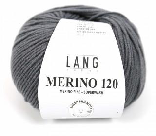 Strickgarn - LANGYARNS MERINO - 120m - 100% Schurwolle - No Mulesing - Graublau Dunkel (34.0203)