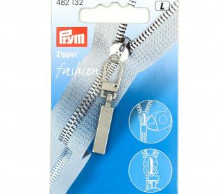 1 Zipper Anhänger - Metall - Hochwertig - Prym - Classic - Silber
