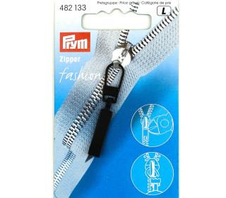 1 Zipper Anhänger - Metall - Hochwertig - Prym - Classic - Schwarz