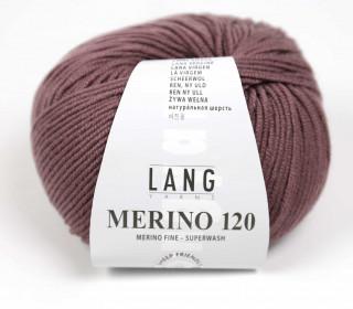 Strickgarn - LANGYARNS MERINO - 120m - 100% Schurwolle - No Mulesing - Lavendelgrau (34.0148)