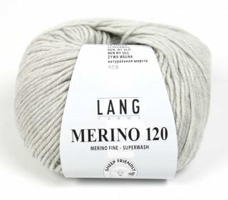 Strickgarn - LANGYARNS MERINO - 120m - 100% Schurwolle - No Mulesing - Hellgrau Meliert (34.0223)