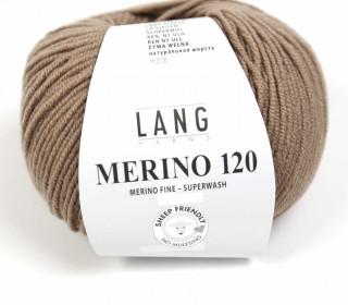 Strickgarn - LANGYARNS MERINO - 120m - 100% Schurwolle - No Mulesing - Braun (34.0126)