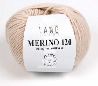 Strickgarn - LANGYARNS MERINO - 120m - 100% Schurwolle - No Mulesing - Creme (34.0096)
