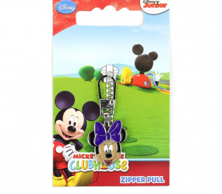 1 Zipper Anhänger - Metall - Hochwertig - Prym - Disney - Minnie Mouse - Bunt