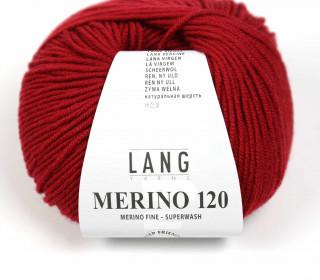 Strickgarn - LANGYARNS MERINO - 120m - 100% Schurwolle - No Mulesing - Weinrot (34.0087)