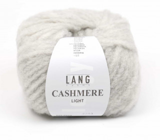 Strickgarn - LANGYARNS CASHMERE Light - 85m - Hellgrau (950.0023)