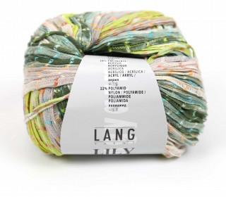Strickgarn - LANGYARNS LILY - 120m - Mehrfarbig/Grün (1016.0016)