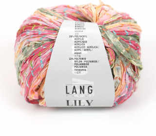 Strickgarn - LANGYARNS LILY - 120m - Mehrfarbig/Lachsrosa (1016.0028)