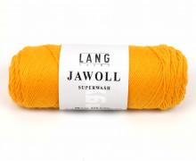 Strickgarn - LANGYARNS JAWOLL - 210m - 75% Schurwolle - Inkl. 5g Spule Beilaufgarn - Gelborange (83.0249)